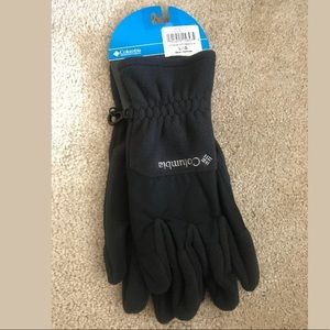 Mens Columbia Black Fleece gloves L Thermal Coil